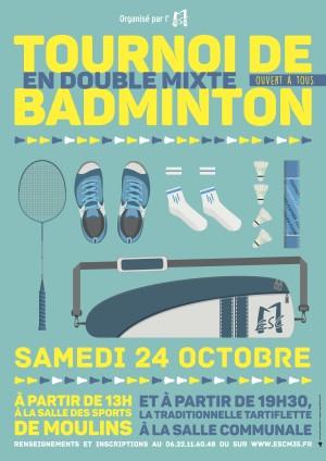 Tournoi Badminton le 24 octobre