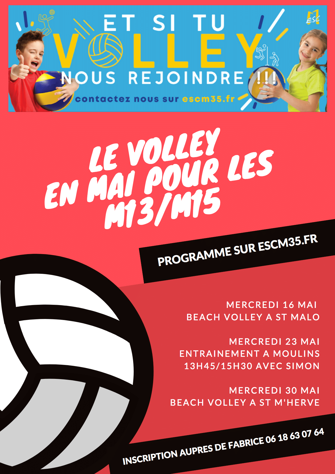 Le volley en mai à Moulins
